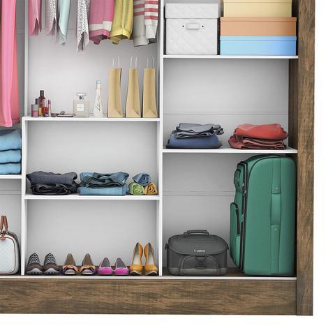 Imagem de Guarda Roupa Casal 3 Portas com Espelho Porto Premium Siena Móveis Demolição
