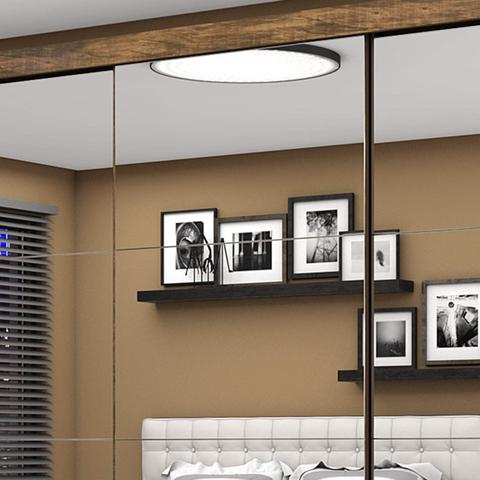 Imagem de Guarda Roupa Casal 3 Portas com Espelho Santiago Premium Siena Móveis Demolição