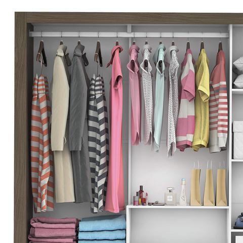 Imagem de Guarda Roupa Casal 3 Portas com Espelho Santiago Premium Siena Móveis Malbec