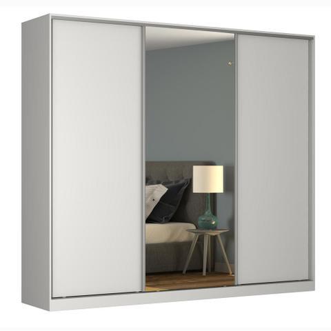 Imagem de Guarda-Roupa Casal 3 Portas Correr 1 Espelho Rc3002 Branco - Nova Mobile