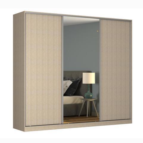 Imagem de Guarda-Roupa Casal 3 Portas Correr 1 Espelho Rc3002 Noce - Nova Mobile