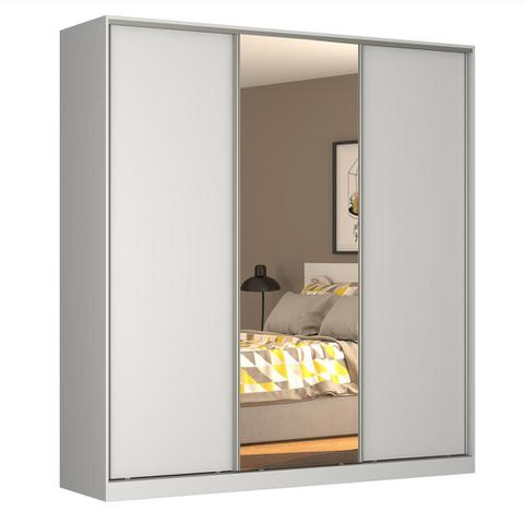 Imagem de Guarda-Roupa Casal 3 Portas Correr 1 Espelho Rc3003 Branco - Nova Mobile