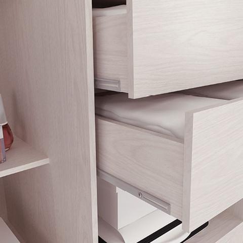 Imagem de Guarda-roupa casal 3 portas de correr 100% mdf em. com espelho 4228-1 branco - maxel