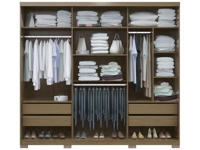 Imagem de Guarda-roupa Casal 3 Portas de Correr 4 Gavetas