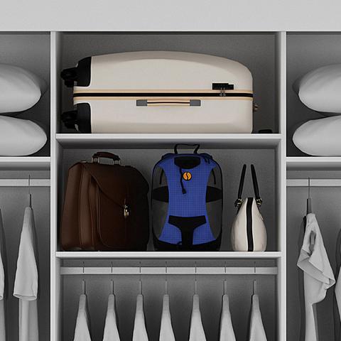 Imagem de Guarda Roupa Casal 3 Portas de Correr 9 Gavetas Turim Bianchi Móveis Branco
