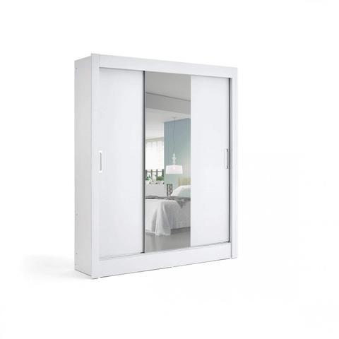 Imagem de Guarda Roupa Casal 3 Portas de Correr com Espelho City of Lights Yescasa Branco