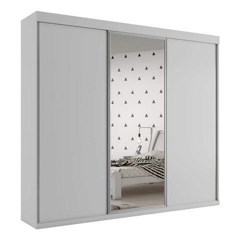 Imagem de Guarda Roupa Casal 3 Portas de Correr Grécia com espelho central Bianchi Móveis