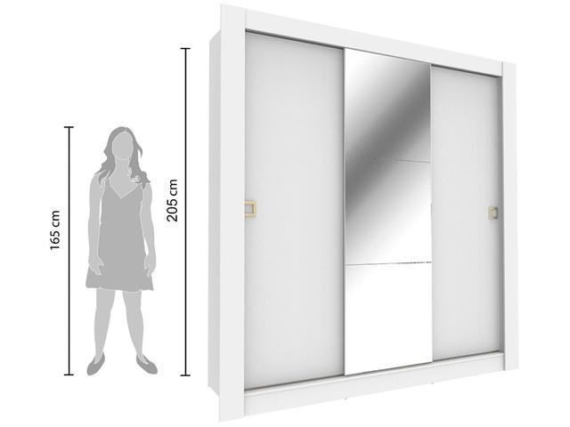 Imagem de Guarda-roupa Casal 3 Portas de Correr Madesa