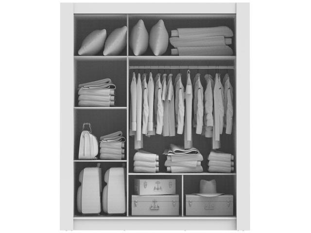 Imagem de Guarda-roupa Casal 3 Portas Madesa