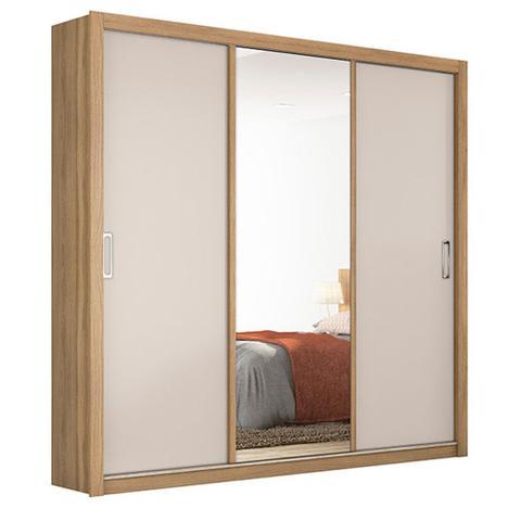 Imagem de Guarda Roupa Casal 3 Portas Residence 32230 Amêndola Touch / Off White Demóbile Maben