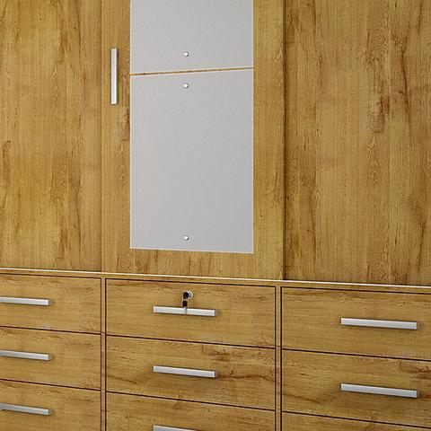 Imagem de Guarda-Roupa Casal 3 Portas Sonare C/ Espelho  Novo Horizonte