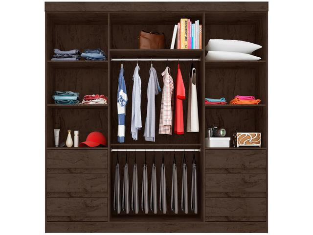 Imagem de Guarda-roupa Casal 4 Portas 6 Gavetas