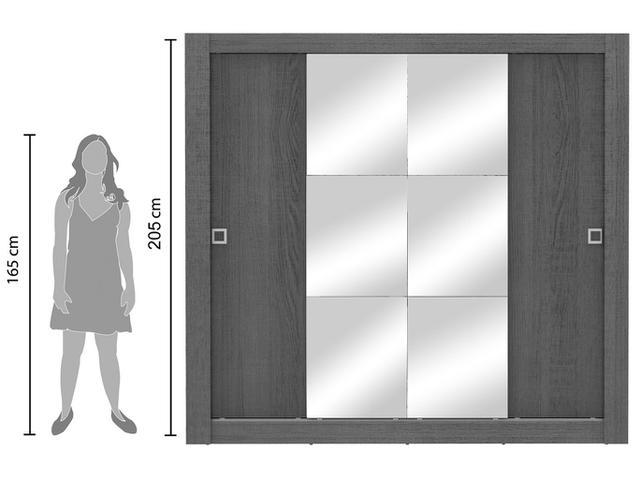 Imagem de Guarda-roupa Casal 4 Portas de Correr Madesa