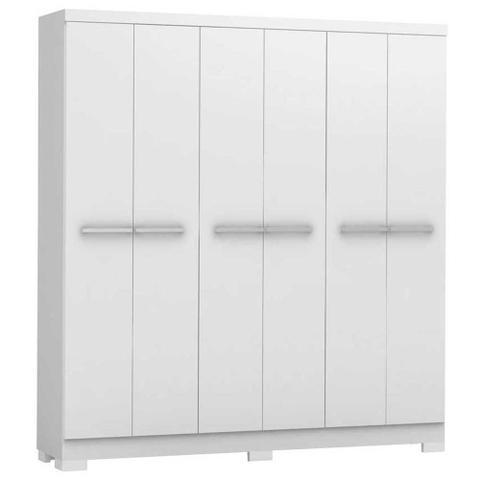 Imagem de Guarda-roupa casal 6 portas 2 gavetas e530 branco - kappesberg