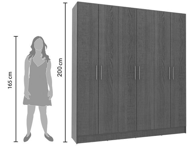 Imagem de Guarda-roupa Casal 6 Portas 2 Gavetas Madesa