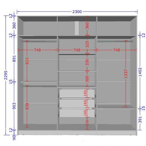 Imagem de GUARDA-ROUPA CASAL 6 PORTAS 3 GAVETAS DUBLIN 2075136 RúSTICO/3D - BECHARA MÓVEIS