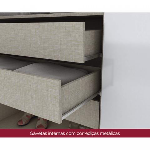 Imagem de Guarda Roupa Casal 6 Portas 3 Gavetas Melvin Espresso Móveis Branco