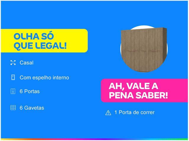 Imagem de Guarda-roupa Casal 6 Portas 6 Gavetas
