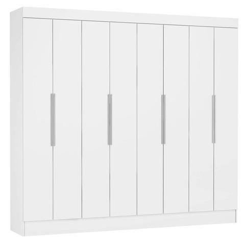 Imagem de Guarda Roupa Casal 8 Portas 2 Gavetas Nova York Siena Móveis Branco