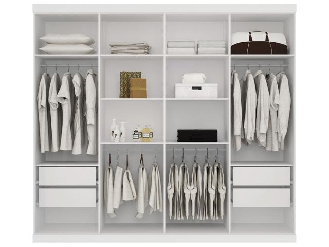 Imagem de Guarda-roupa Casal 8 Portas 4 Gavetas