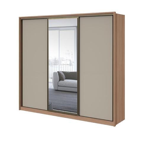 Imagem de Guarda Roupa Casal com espelho 03 portas 06 gavetas Spazio Glass Lopas