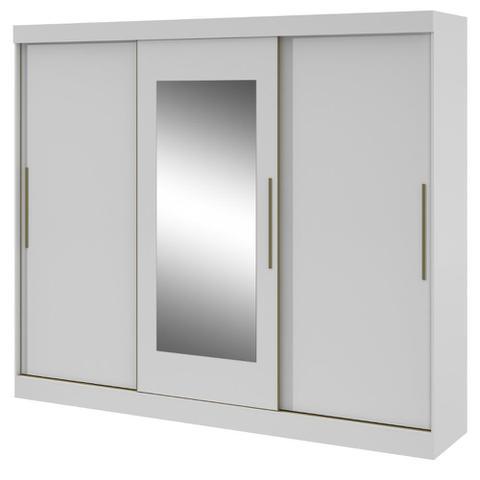 Imagem de Guarda Roupa Casal com Espelho 3 Portas de Correr 4 Gavetas Montebello Lopas