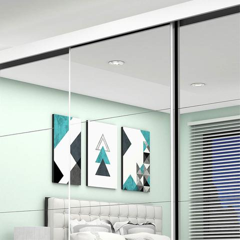 Imagem de Guarda Roupa Casal com Espelho 3 Portas de Correr Ilheus Premium Espresso Móveis Branco