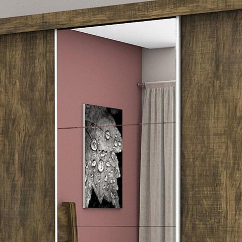 Imagem de Guarda Roupa Casal com Espelho 3 Portas de Correr Lara Siena Móveis Demolição
