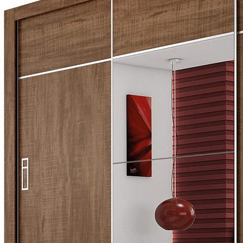 Imagem de Guarda Roupa Casal com Espelho 3 Portas de Correr Lotse Siena Móveis Demolição