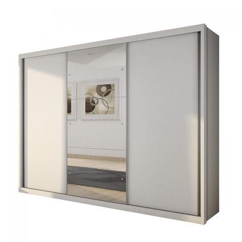 Imagem de Guarda Roupa Casal com Espelho 3 Portas de Correr Paradizzo Gold Yescasa Branco