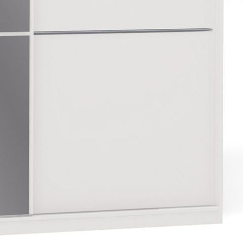 Imagem de Guarda Roupa Casal com Espelho 3 Portas de Correr S743 Kappesberg Branco