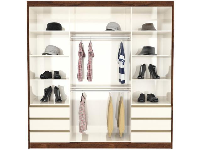 Imagem de Guarda-roupa Casal com Espelho 4 Portas