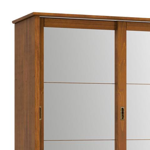 Imagem de Guarda-Roupa Casal com Espelho Esmeralda 2PT Imbuia