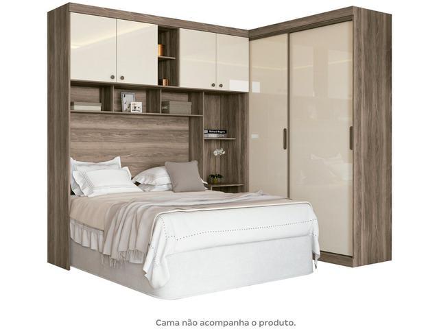 Imagem de Guarda-roupa Casal de Canto 6 Portas 5 Gavetas