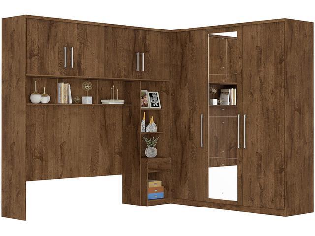 Imagem de Guarda-roupa Casal de Canto com Espelho 7 Portas