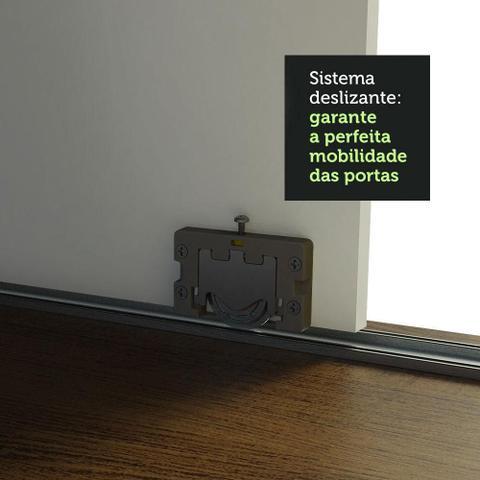 Imagem de Guarda-Roupa Casal Madesa Austin 4 Portas de Correr com Espelhos 3 Gavetas