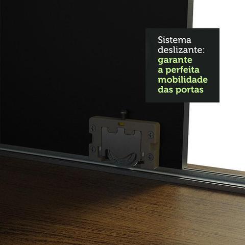 Imagem de Guarda-Roupa Casal Madesa Austin 4 Portas de Correr de Espelho 3 Gavetas
