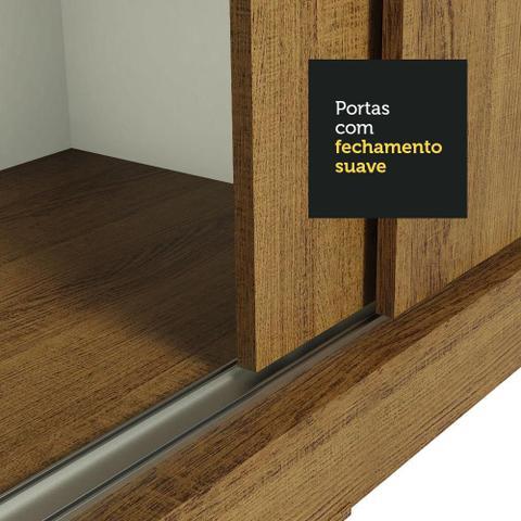Imagem de Guarda-Roupa Casal Madesa Kansas 3 Portas de Correr com Espelho 3 Gavetas