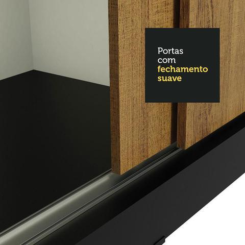 Imagem de Guarda-Roupa Casal Madesa Kansas 3 Portas de Correr com Espelhos 3 Gavetas