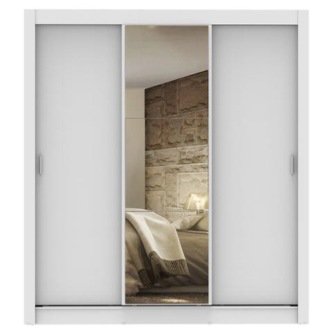Imagem de Guarda Roupa Casal Madesa Lyon 3 Portas de Correr com Espelho