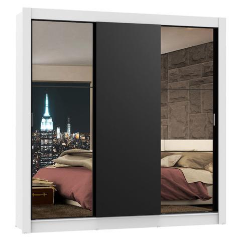 Imagem de Guarda-Roupa Casal Madesa Lyon 3 Portas de Correr com Espelhos 2 Gavetas