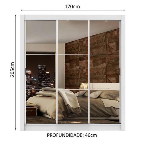 Imagem de Guarda Roupa Casal Madesa Lyon Plus 3 Portas de Correr de Espelho