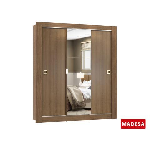 Imagem de Guarda-Roupa Casal Madesa Master 3 Portas de Correr com Espelho