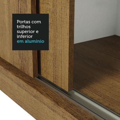 Imagem de Guarda Roupa Casal Madesa Mônaco 3 Portas de Correr com Espelhos com Pés
