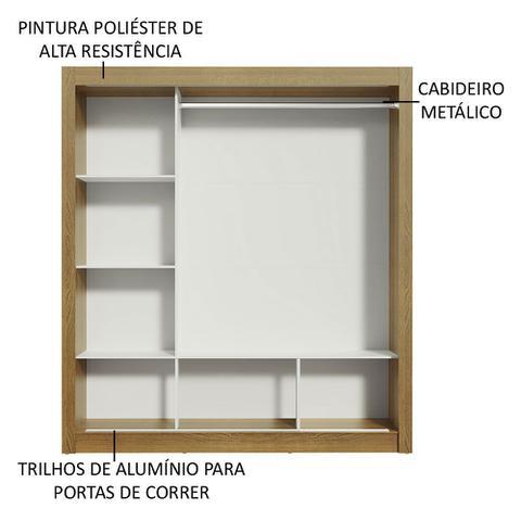 Imagem de Guarda Roupa Casal Madesa Mônaco 3 Portas de Correr com Espelhos