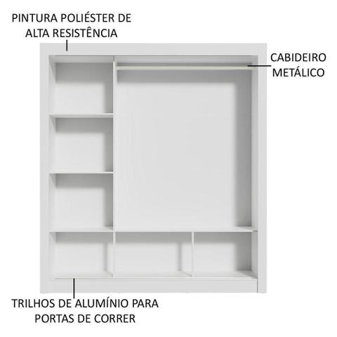 Imagem de Guarda Roupa Casal Madesa Mônaco 3 Portas de Correr de Espelho