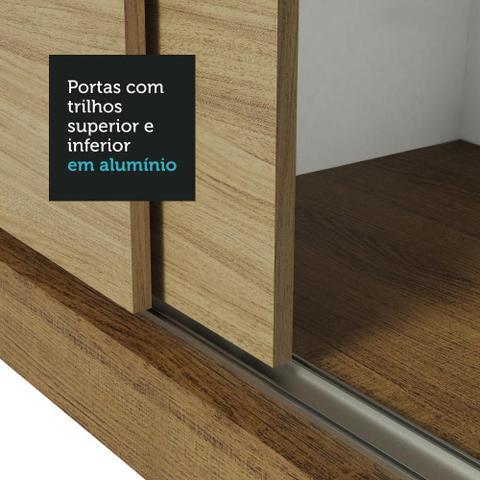 Imagem de Guarda-Roupa Casal Madesa Mônaco 3 Portas de Correr - Rustic/Carvalho