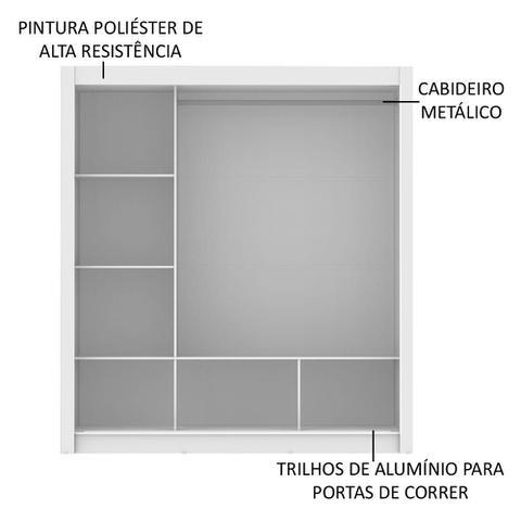 Imagem de Guarda Roupa Casal Madesa Mônaco 3 Portas de Correr