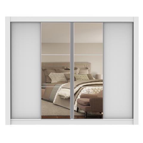 Imagem de Guarda-Roupa Casal Madesa Montana 4 Portas de Correr com Espelho