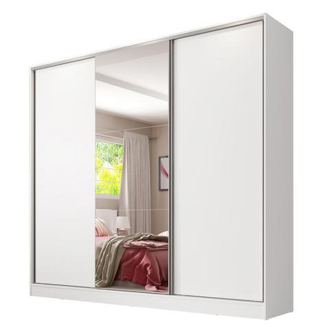 Imagem de Guarda Roupa Casal Madesa Royale 100 MDF 3 Portas de Correr com Espelho